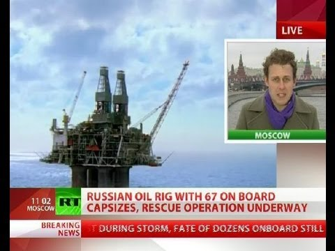 Russian oil rig sinks with 67 on board