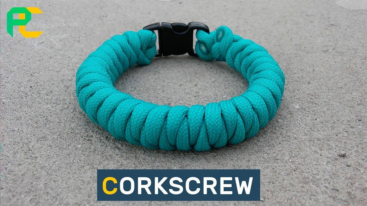 Corkscrew Paracord Bracelet