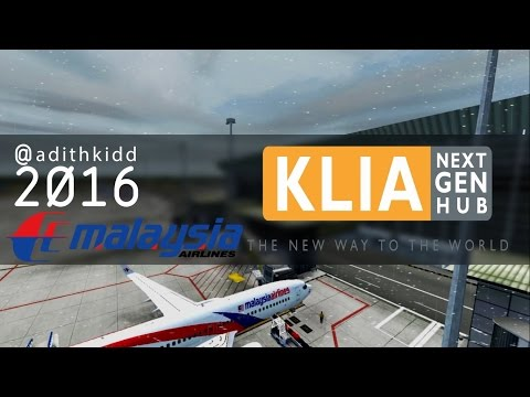 FSX [HD] REALISM | Malaysia Airlines Boeing 737-800 Heavy Rain Landing at Kuala Lumpur