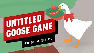 The First 11 Minutes Of Untitled Goose Game   Gameplay