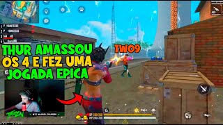 APOSTADO, THURZIN AMASSOU OS 4 EM JOGADA EPICA - TWO9 VS THURZIN - VS BAK NO 4V4 APOSTADO INSANO