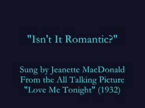 """Isn't It Romantic?"" (1932) Jeanette MacDonald"
