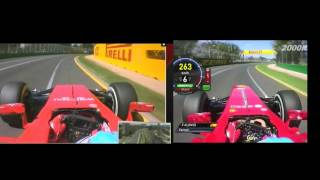 F1 2014 VS F1 2013 Fernando Alonso Onboard Melbourne Lap Comparison