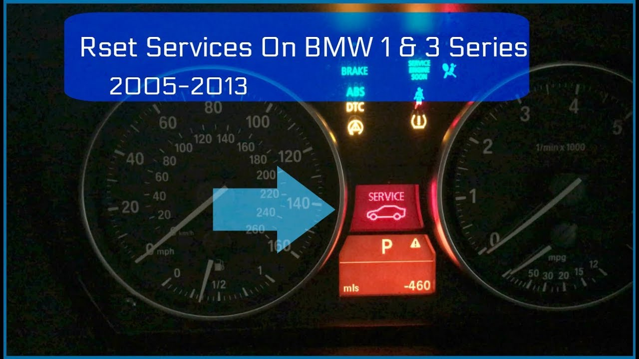 How To Reset Bmw Service Light 1 3 Series Youtube