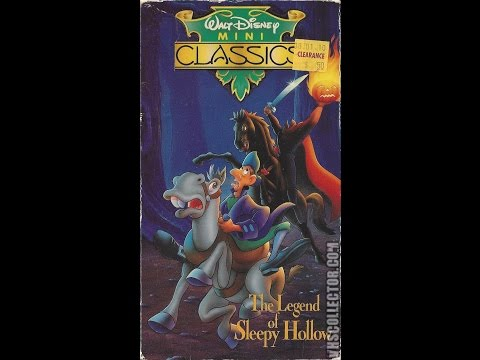 Opening & Closing To The Legend Of Sleepy Hollow 1990 VHS