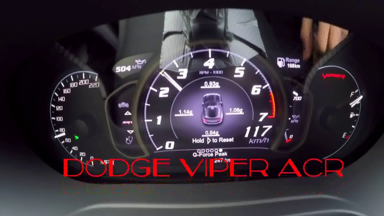 Speed Car Test Dodge Viper ACR Acceleration 120-280 - YouTube