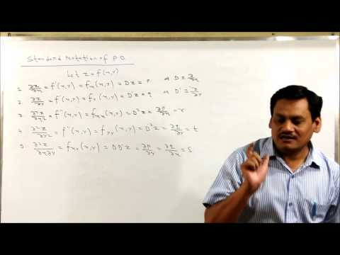 Lecture-1 Partial Differential Equation-Formation of PDE in hindi