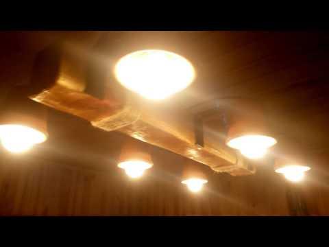 Светильник люстра своими руками/ chandelier lamp handmade