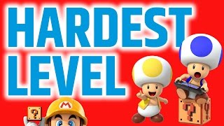 Super Mario Maker Hardest Level - 99.6% Fail This Course