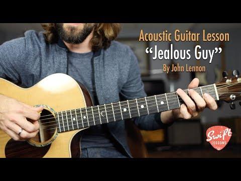 "John Lennon ""Jealous Guy"" Acoustic Guitar Lesson with Tabs"