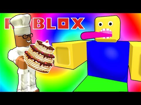Make A Cake And Feed The Giant Noob Roblox Youtube - Feeding The Giant Noob In Roblox Youtube