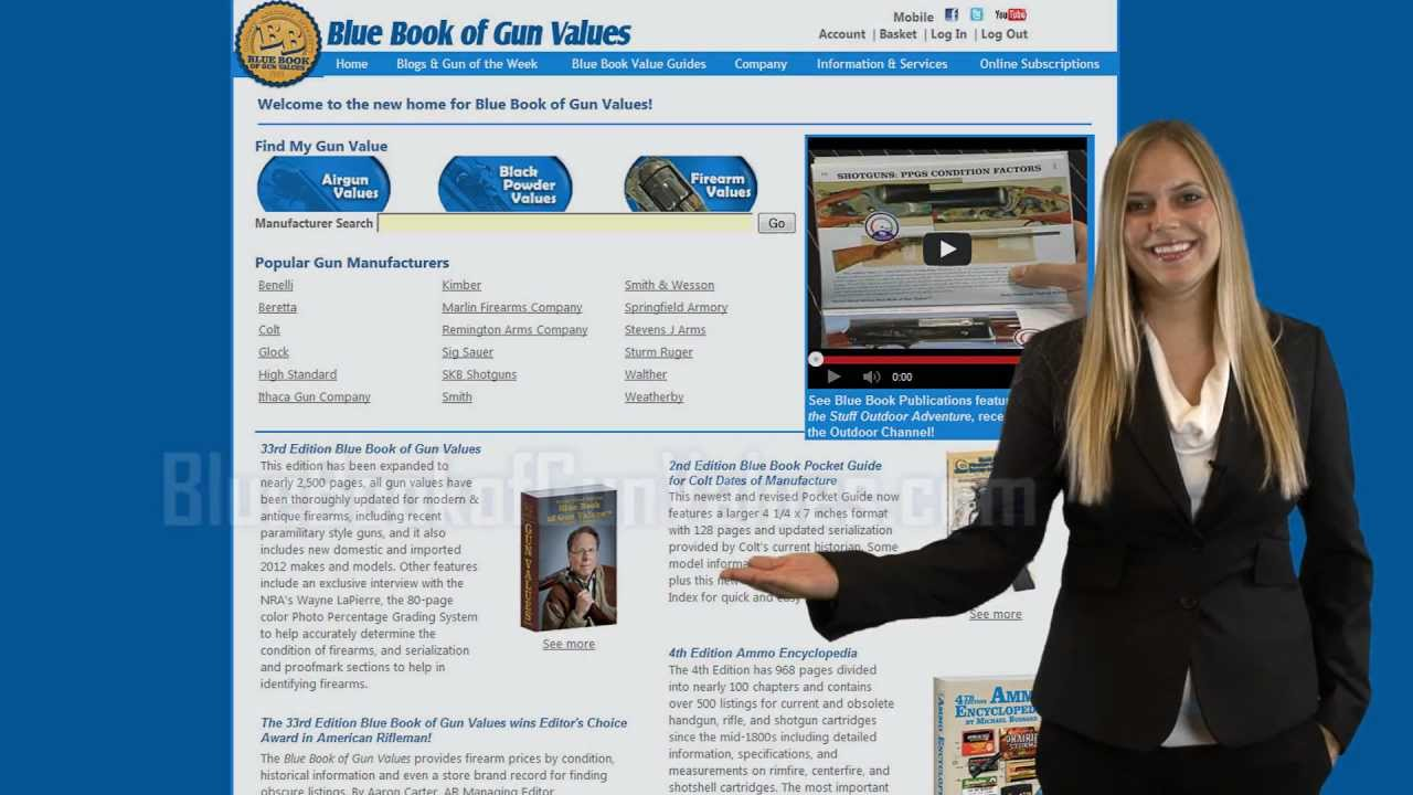 Blue Book of Gun Values Online Subscription Overview; the Most Used ...