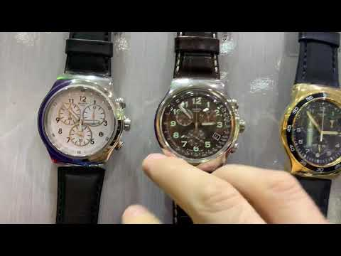 Buying Men's SWATCH WATCHES With Leather, Stainless Steel And Silicone Straps