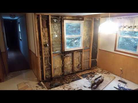 Water Damage Repair Of Mobile Home Wall