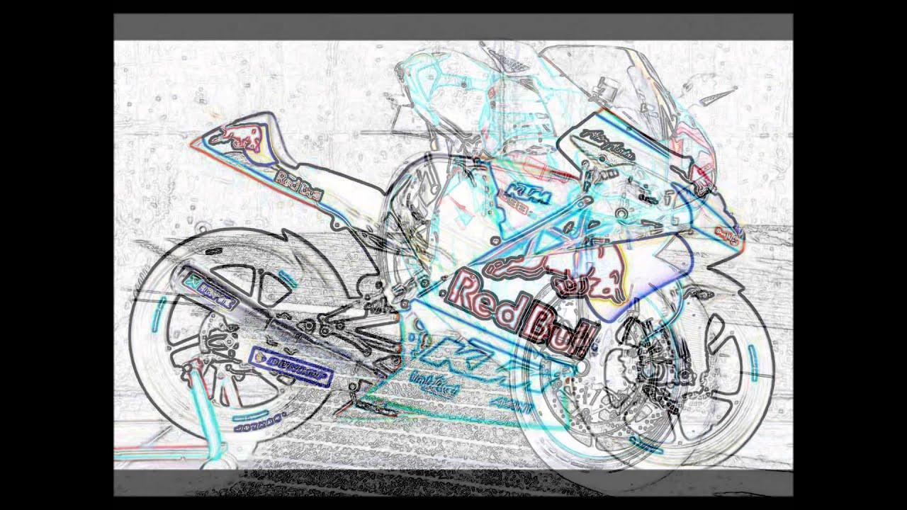 Video de moto en dessin youtube - Moto en dessin ...