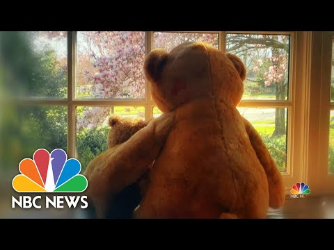 Teddy bear hunt brings welcome distraction for children | NBC Nightly News