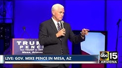 Mike Pence: Gov. Doug Ducey is a GOOD MAN and a GOOD LEADER. Mesa, AZ