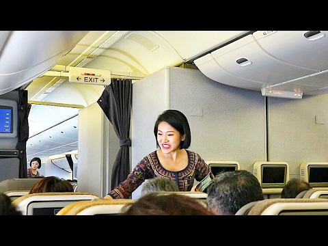 SINGAPORE AIRLINES TOP-NOTCH SERVICE SQ872 SINGAPORE TO HONGKONG