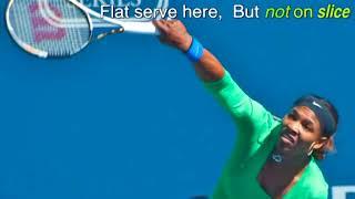 セレナ・ウィリアムズのスライスサーブ(Serena Williams Slice Serve) セリーナウィリアムズ 検索動画 26