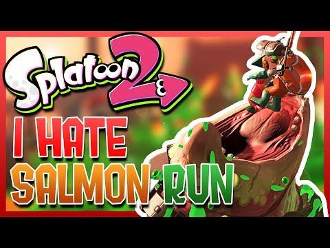 SPLATOON 2 - I HATE SALMON RUN (Funny Moments)