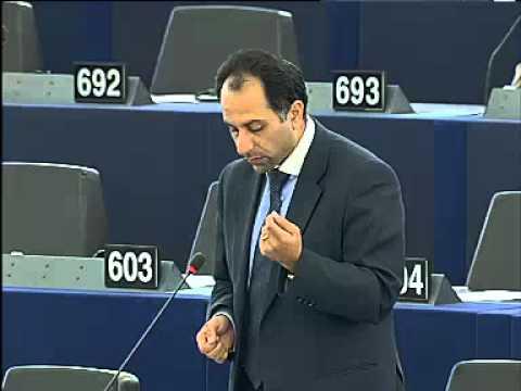 Sajjad raising concerns of Syrian online activists in April plenary debate