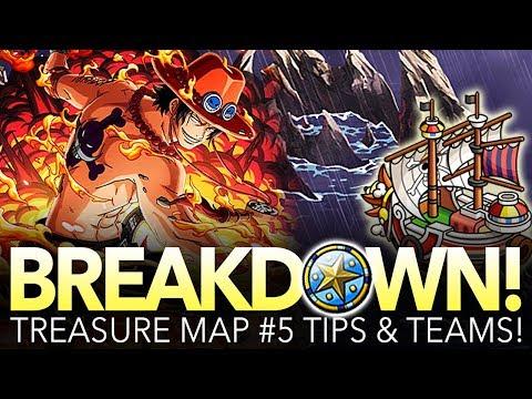 TREASURE MAP #5 TIPS & TEAMS! Preparation Against Ace! (One Piece Treasure Cruise - Global)