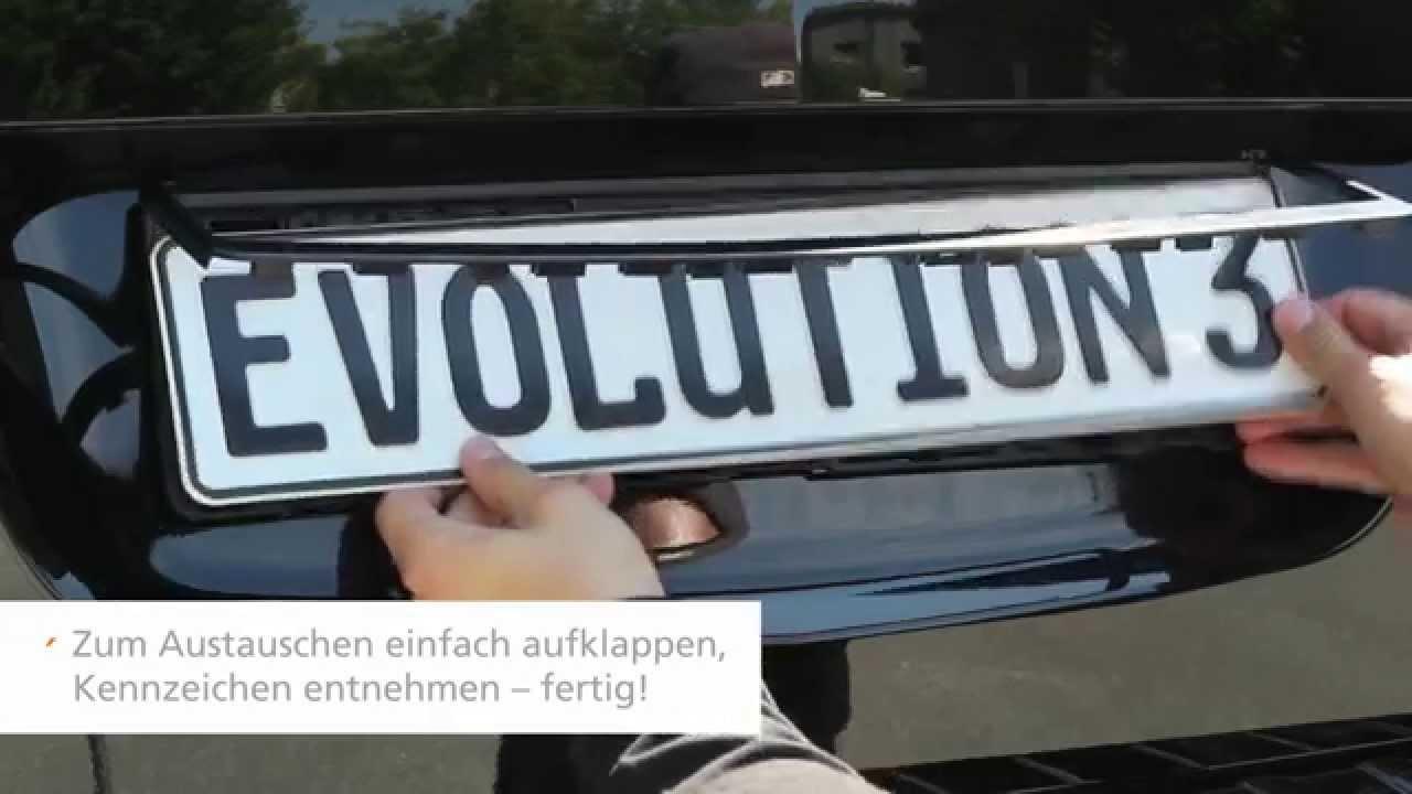 Montageanleitung Kennzeichenhalter Evolution 3 - YouTube