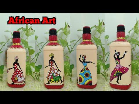 View Glass Bottle Cartoon Bottle Art PNG