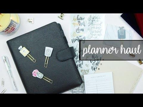 PLANNER HAUL | Cloth & Paper, Sessa Vee, Etsy & Hobby Lobby