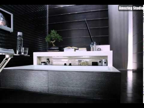 Schwarz Weiß Moderne Badezimmer Fliesen
