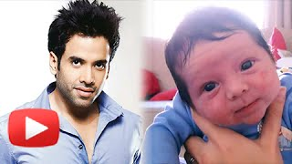 Tusshar kapoor becomes father - press conference - full hd video