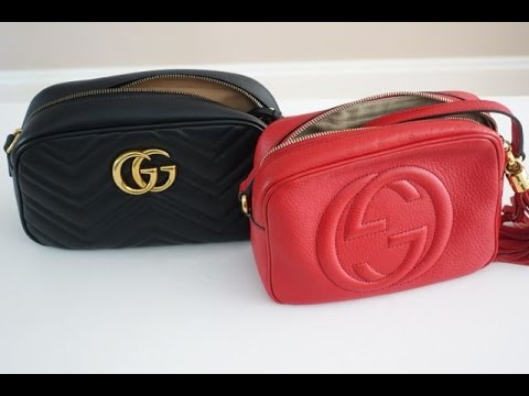 7110323c6dece5 Gucci Handbag Comparison | Soho Leather Disco Bag vs. Marmont Matelassé Crossbody  Bag