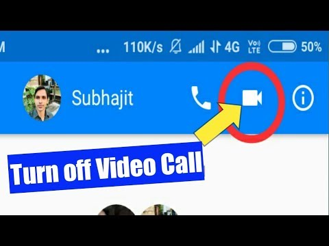 How to disable video call on facebook messenger on iphone