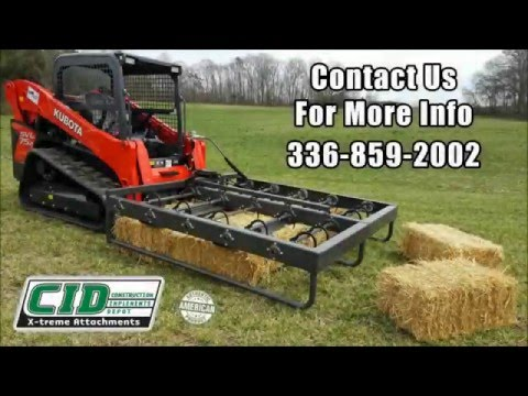 CID Skid Steer Hay Accumulator Grapple Product Demo 2016