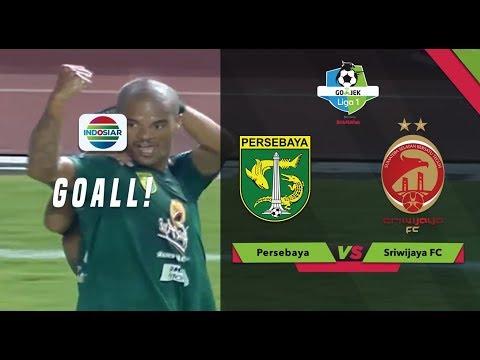 Goal David da Silva - Persebaya (1) vs Sriwijaya FC (0) | Go-Jek Liga 1 bersama Bukalapak