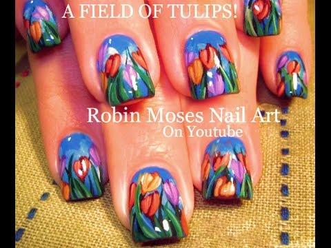 tulip nails rainbow flower nail
