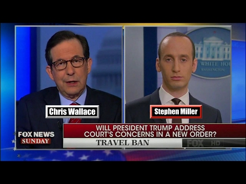 "Stephen Miller to Anti-Trump Protesters : ""The President's powers here is beyond question"""