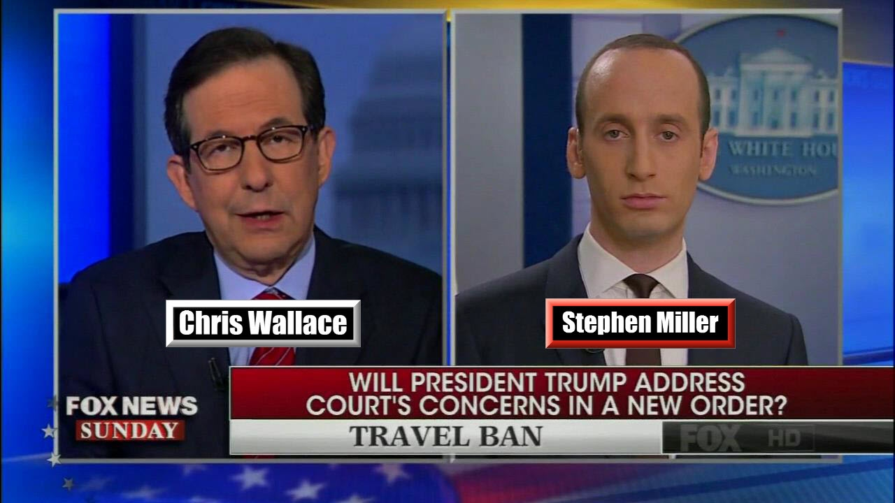 Image result for chris wallace stephen miller raw story