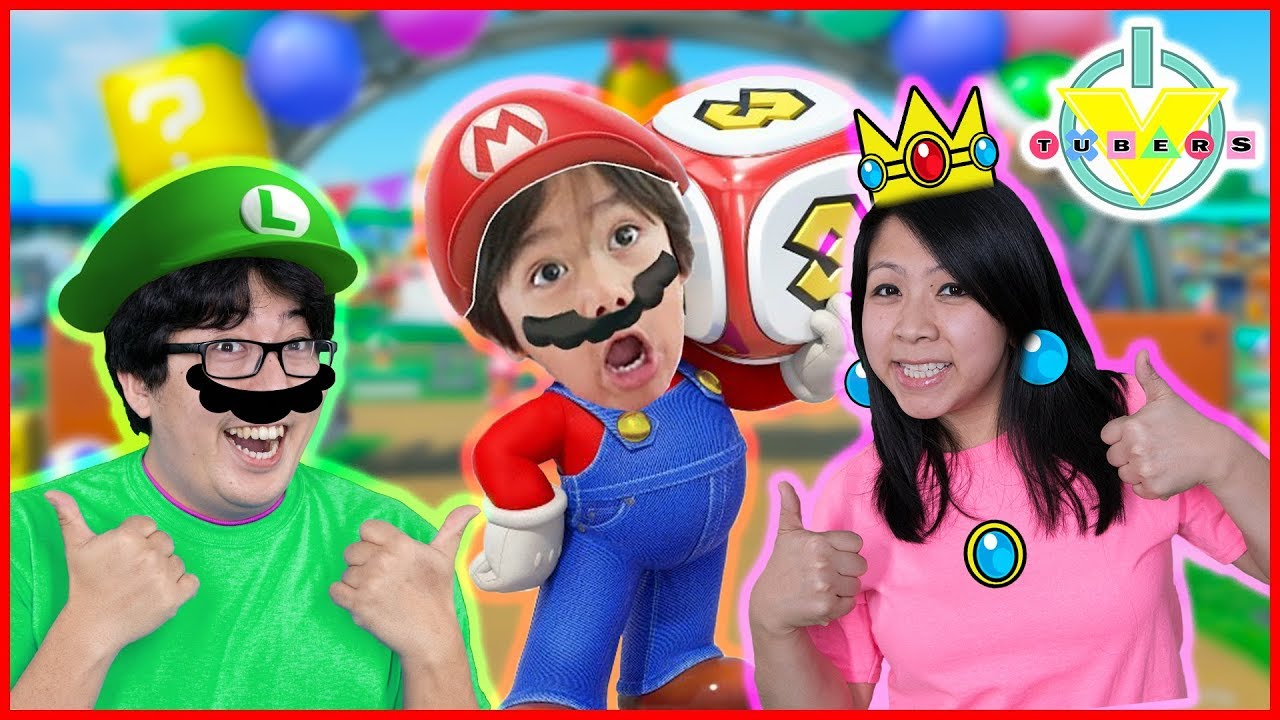 SUPER MARIO PARTY Review! LOSER GETS PUSHED IN THE POOL ! Let's Play with VTubers Ryan Mommy & Daddy
