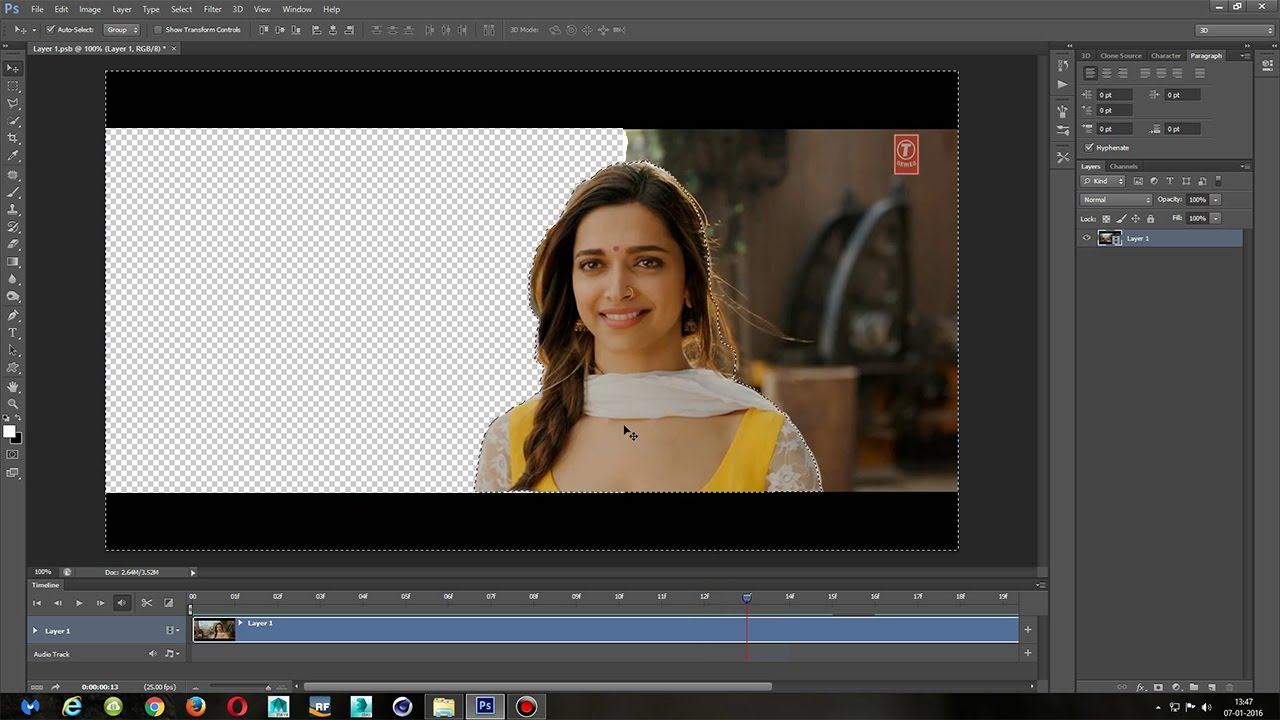 How To Remove Background Of A Video In Photoshop Tutorial Youtube