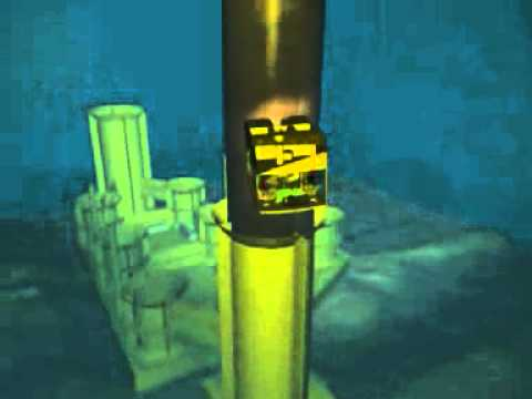 Savante Subsea and Underwater Lasers: 3D animation showing QA of pile installations