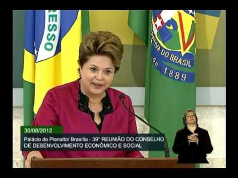 Discurso da Presidente Dilma Rousseff, durante a 39ª Reunião Ordinária do CDES - Brasília/DF