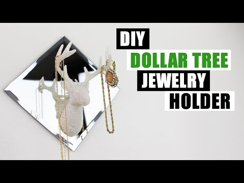 DIY DOLLAR TREE JEWELRY HOLDER DIY Glam Decor