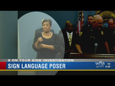 Deaf interpreter at Tampa police news conference served prison time for stealing from special needs