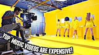 SPENDING $35,000 ON A MUSIC VIDEO.
