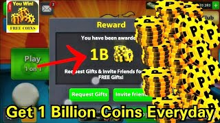 Hack 8 Ball Pool -( Win 1 Billon Coins EveryDay) |Unlimited Coins & Cash|