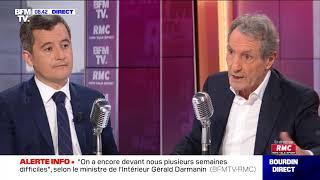 Gérald Darmanin face à Jean-Jacques Bourdin en direct