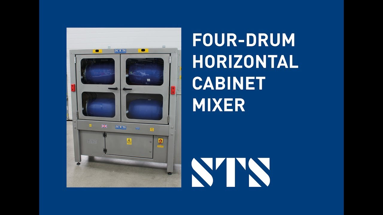 STS-Four-drum Horizontal Cabinet Drum Mixer 25 Litre Stainless Steel Drum Mixer (Model: DME03-SS)