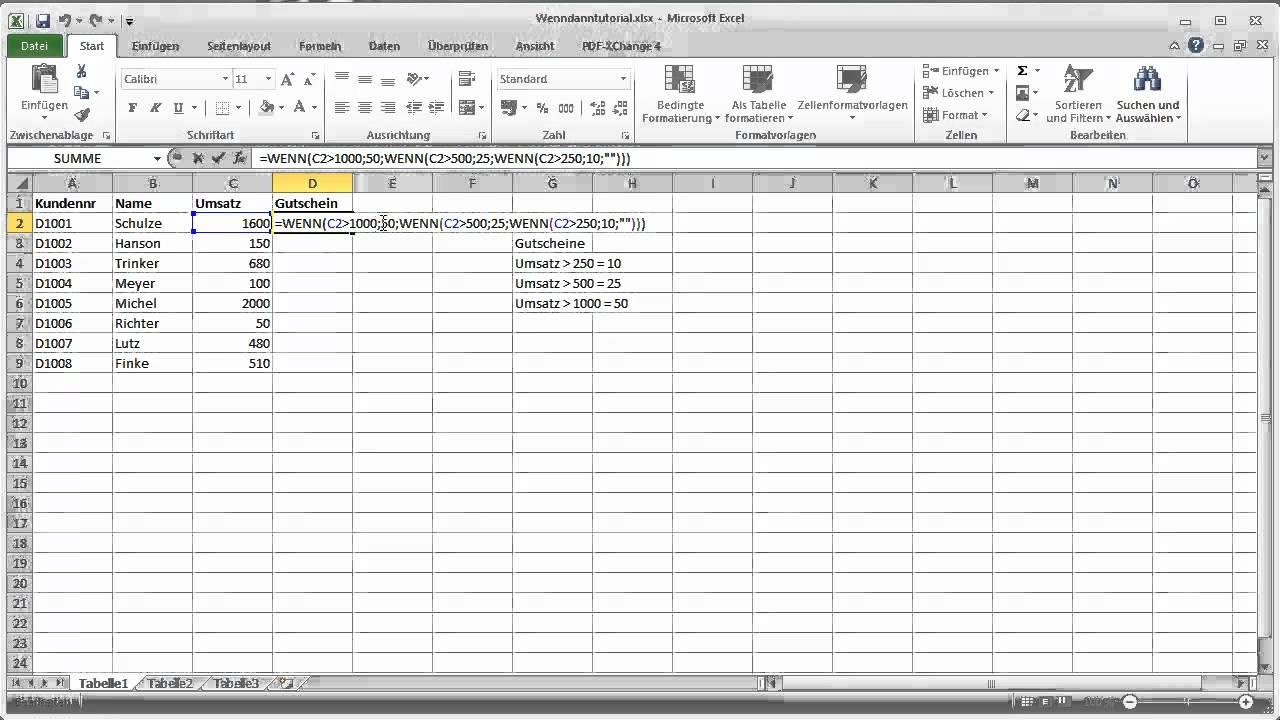 Excel Arbeitsblatt Wenn Dann : Excel wenn dann sonst verkapselt youtube