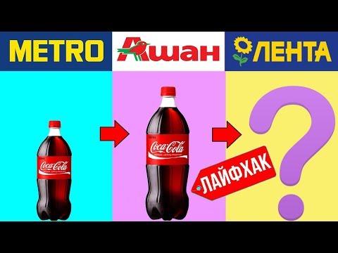 Где дешевле? Сколько стоит Coca-Cola? Купить Кока-Колу в Metro, Ашан или Лента